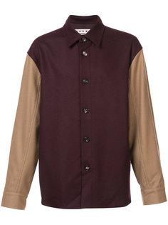 куртка рубашечного типа дизайна колор-блок Marni