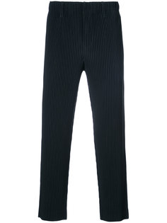 укороченные брюки в рубчик Issey Miyake Men