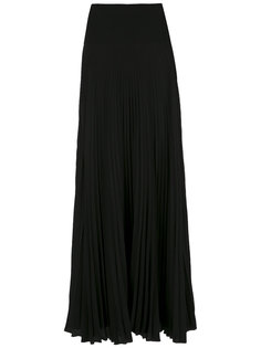 pleated silk maxi skirt Reinaldo Lourenço