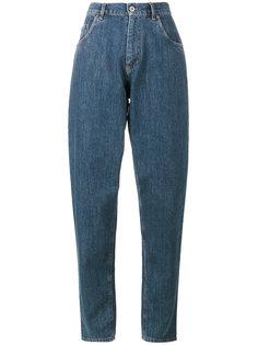 зауженные джинсы с завышенной талией Miu Miu