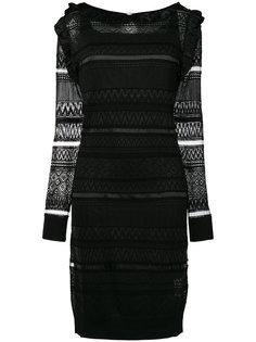 платье с прозрачной панелью Cavalli Class