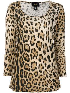 футболка с леопардовым узором Cavalli Class