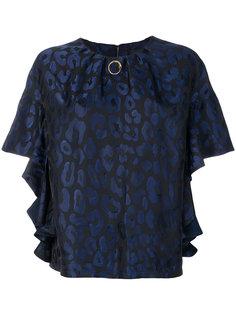 леопардовая блузка со сборками Cavalli Class
