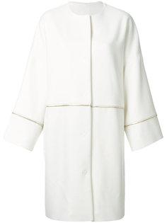 объемное пальто с отделкой молнией Cavalli Class