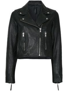 классическая байкерская куртка на молнии  Nobody Denim