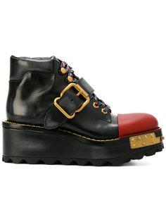 platform boots Prada