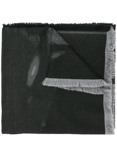 двухцветный шарф с бахромой Givenchy