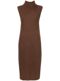 high neck ribbed knit dress Anrealage