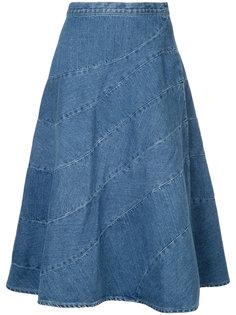 Spiral denim skirt Anrealage