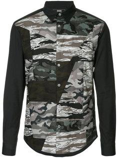 рубашка с камуфляжной панелью Anrealage