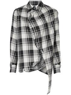 tartan asymmetric shirt Anrealage