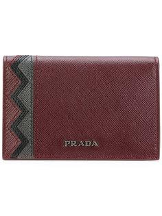 визитница с зигзагообразной панелью Prada