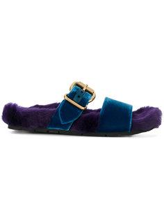 сандалии с пряжками Prada