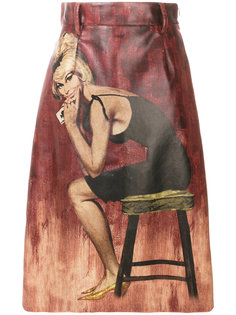 юбка с принтом  Prada