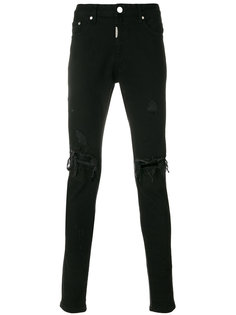 джинсы кроя скинни с потертой отделкой Represent