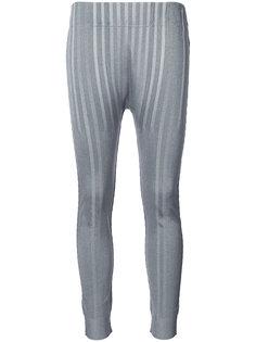 облегающие брюки в полоску Pleats Please By Issey Miyake