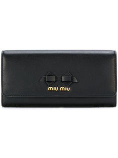 кошелек с элементом банта Miu Miu