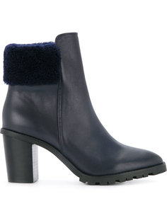 shearling heeled boots Dion Lee