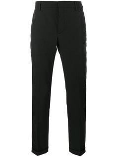 брюки строгого кроя с заворотами Prada
