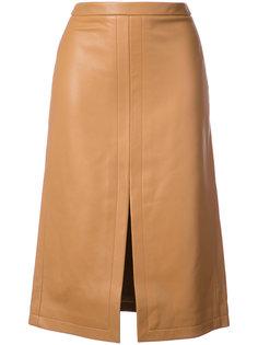 Pencil Skirt With Front Slit Derek Lam