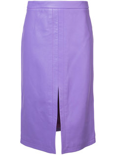 Pencil Skirt With Front Slit Derek Lam