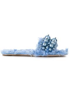 декорированные сандалии Miu Miu