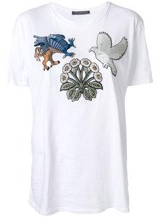 футболка с нашивкой-птицей  Alexander McQueen