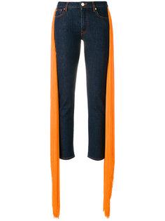 джинсы с плиссированными вставками  Emilio Pucci