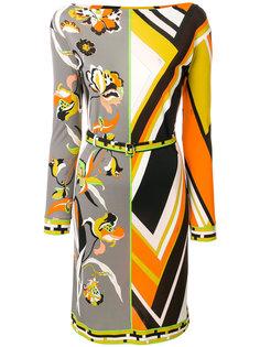 платье-мини с принтом и вырезом лодочкой  Emilio Pucci