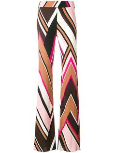 широкие брюки с принтом  Emilio Pucci