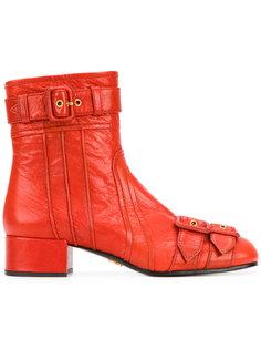 ботинки с пряжками Prada