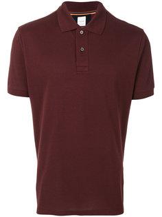 футболка-поло с полосатой вставкой Paul Smith