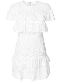 платье мини с вышивкой  Self-Portrait