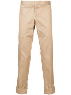 узкие брюки с заниженной талией Thom Browne