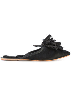 fringed mules Figue