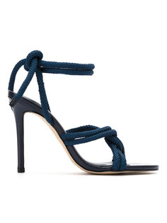 ankle tie sandals Egrey