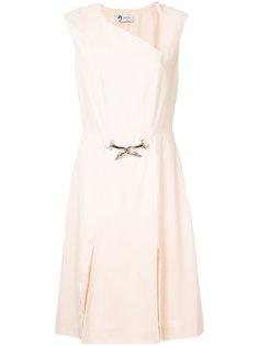 платье с поясом  Lanvin