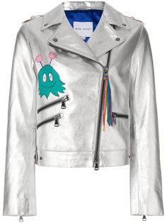 байкерская куртка металлик на молнии Mira Mikati