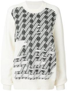 трикотажный свитер с вышивкой  Maison Margiela