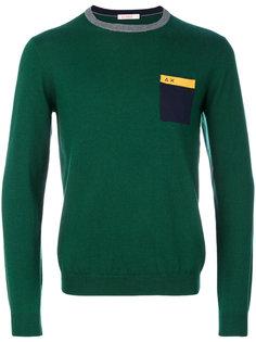 свитер с накладным карманом Sun 68