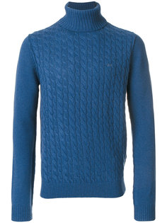свитер вязки косичкой Sun 68