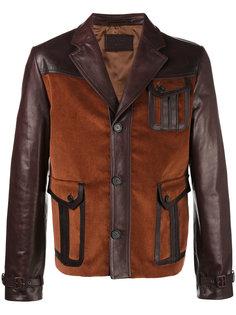 кожаная куртка с накладными карманами Prada
