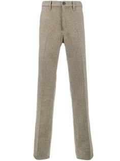 брюки Shetland в клетку Prada