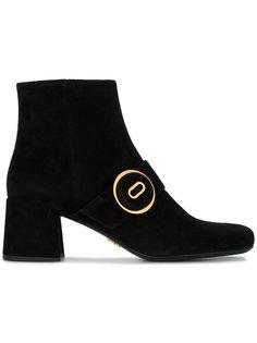 ботинки по щиколотку с пряжками Prada