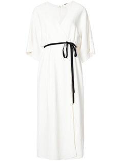 платье с контрастным ремнем Adam Lippes