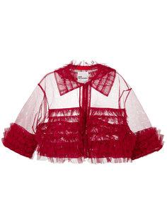 укороченный пиджак с оборками  Comme Des Garçons Noir Kei Ninomiya