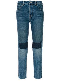 джинсы с завышенной талией в стиле пэчворк  Helmut Lang
