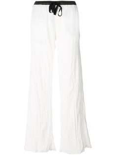 брюки-палаццо со шнурком  Nude