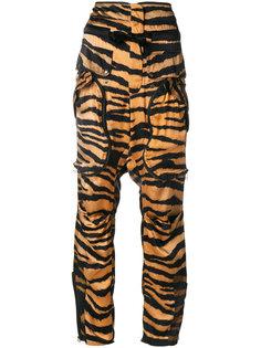 брюки с тигриным принтом  Faith Connexion