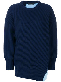 patchwork knit jumper Cédric Charlier